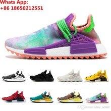 3baeac958d8c8 Human Race Running Shoes pharrell williams Hu trail Cream Core Black nerd  Equality holi trainers Mens Women Sports sneaker
