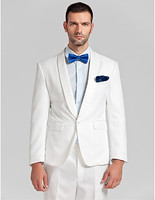 wedding tuxedo for men suits white groom wear high quality 2019 shawl collar custom suit