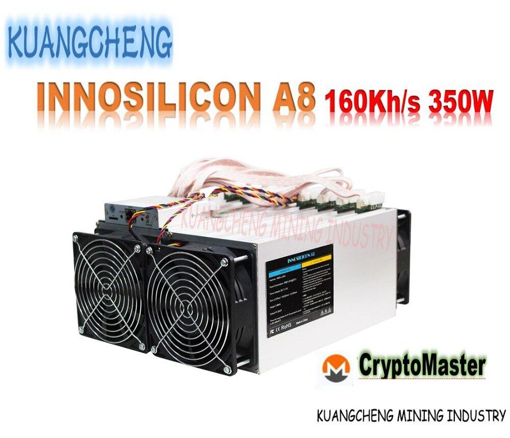 Utilisé Innosilicon A8 CryptoMaster 160kh/s CryptoMaster mineur A8 160 K 350 W ASIC machine d'extraction