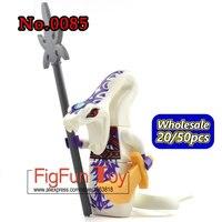 WHOLESALE Lot Single 20 50 PCs Decool 0085 White Pythor Ninja Figures Mini Figs Brick Block
