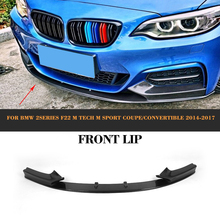 цена на excellent fitness carbon fiber new 2 series  F22 228i 235i front bumper lip, lip spoiler For BMW 2014 up