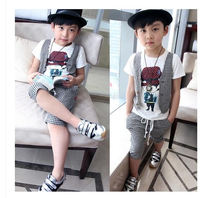 2 12Y kids hip hop clothing children Korean boys short set ...