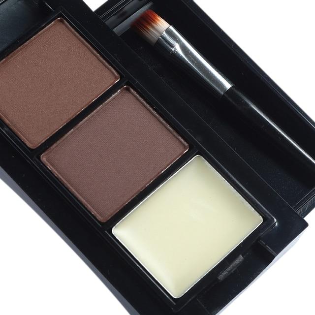 Menow Professional Eye Brow Makeup 2 Color Eyebrow Powder + Eyebrow Wax Palette Contour Bronzer Shadow with Brush Cosmetics Kit 4