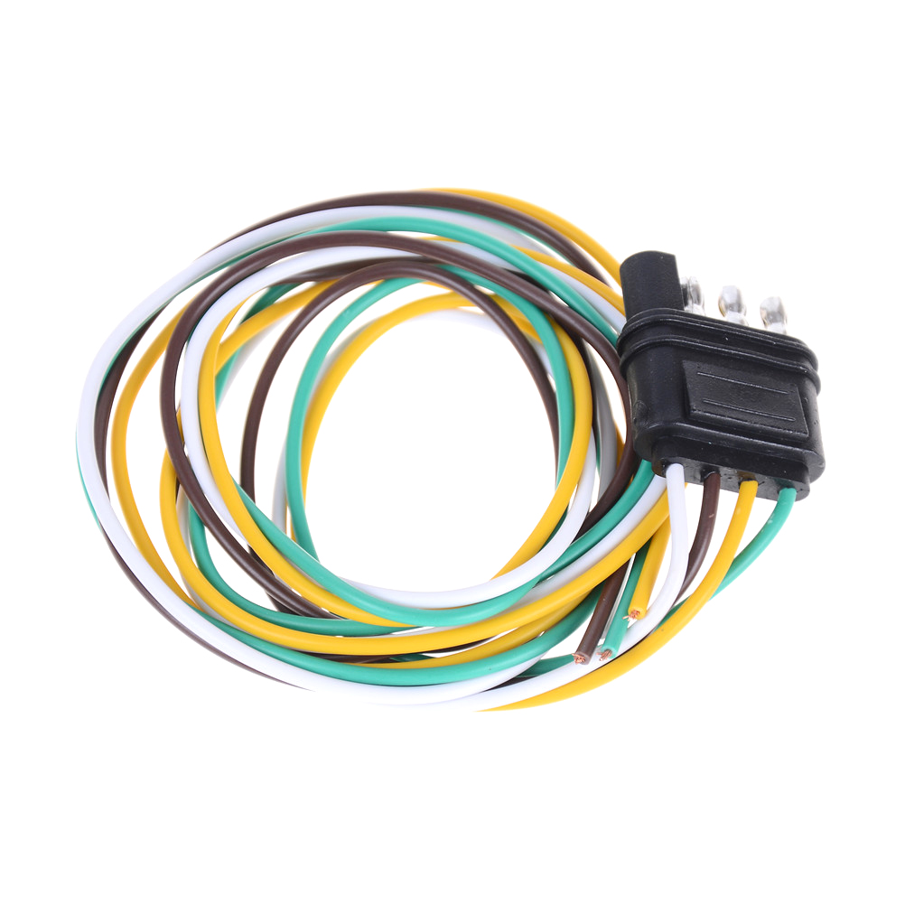 hight resolution of 1pcs new 4 pin plug 18 awg flat wire connector trailer male plug trailer light wiring harness extension