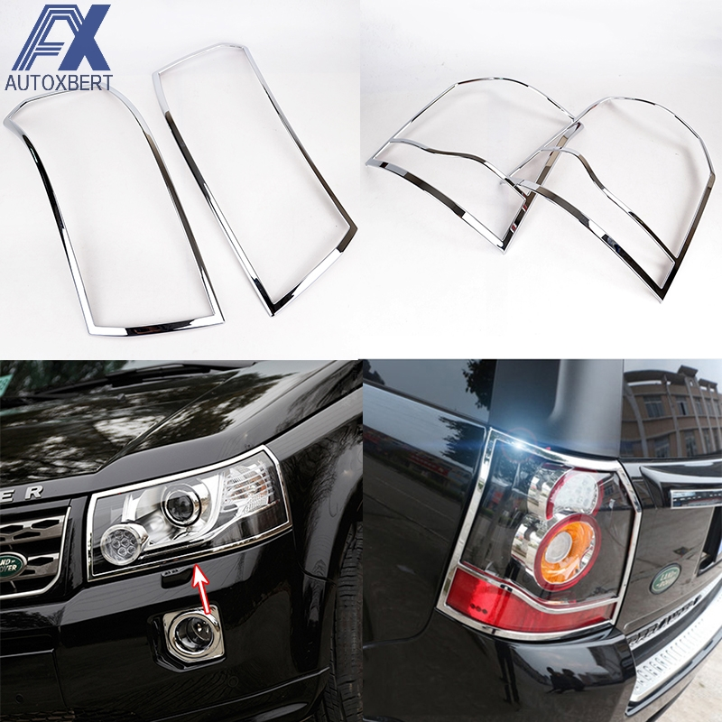 AX 2in1 Chrome Front Tail Light Cover For Land Rover LR2