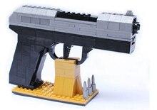Educational toy gun model building kit assembling building block combination pistol Desert Eagle children assembled toy bricks