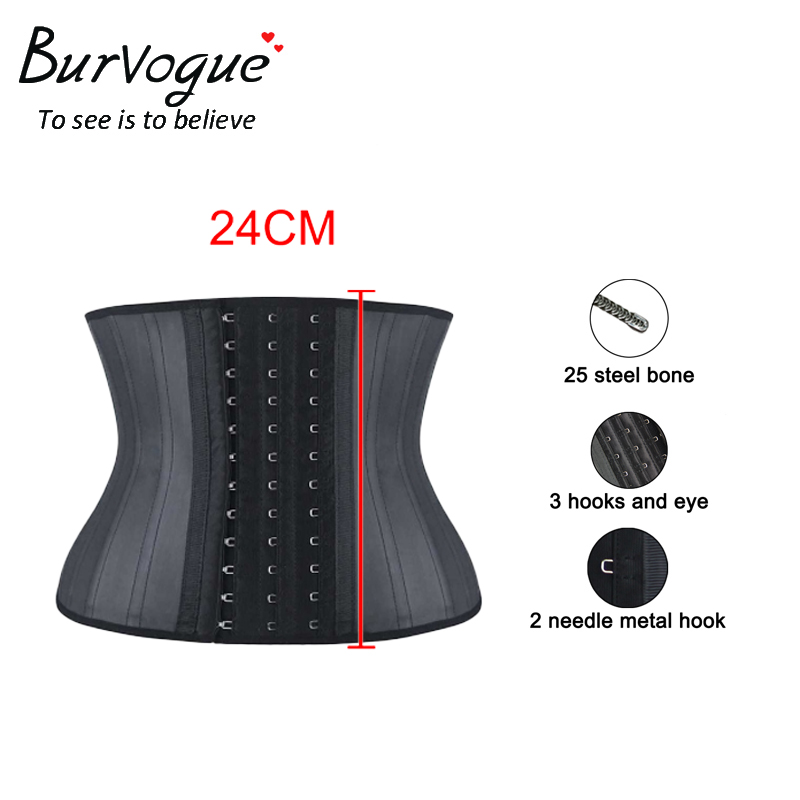 Burvogue Women Waist Trainer Slimming   Corset   Underbust Steel Bones Waist Control   Corsets   and   Bustiers   Sexy Women Latex   Corsets