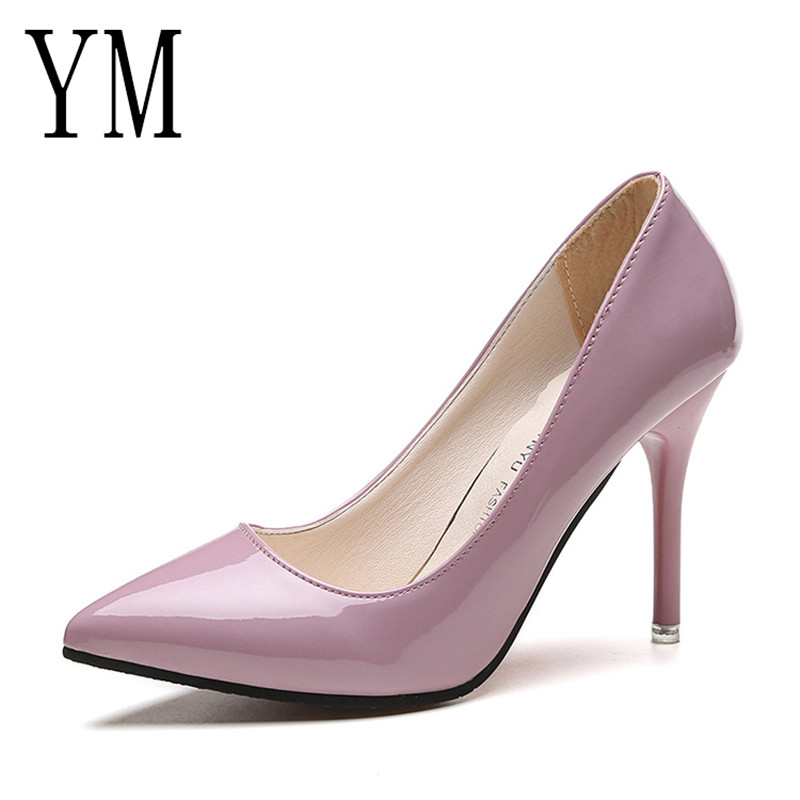 Low Price HOT Women Shoes Pointed Toe Pumps Patent Leather Dress Shoes High Heels Boat Shoes Wedding Shoes Zapatos Mujer 8.5/4cmLow Price HOT Women Shoes Pointed Toe Pumps Patent Leather Dress Shoes High Heels Boat Shoes Wedding Shoes Zapatos Mujer 8.5/4cm