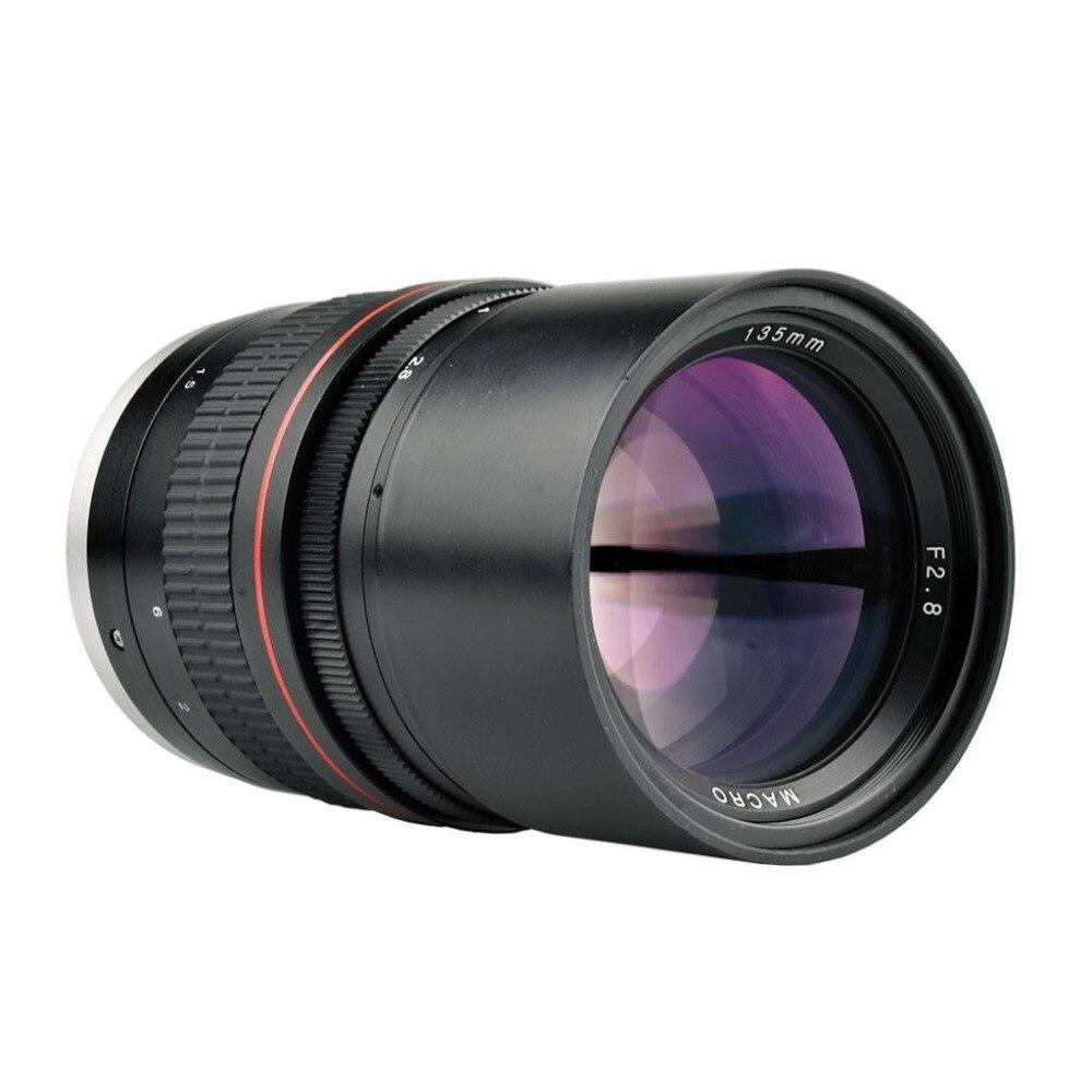 Objectif de premier plan 135mm F/2.8 plein cadre à mise au point manuelle pour Canon 1300D 700D 80D 5D2 7D Nikon D5500 D7200 D800 D3400 appareil photo reflex numérique