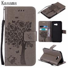 3D Boom Voor Samsung Galaxy A5 2015 2016 2017 A500 A510 A520 A7 2016 A710 PU Leather Case Telefoon Shell wallet Flip Stand Cover(China)