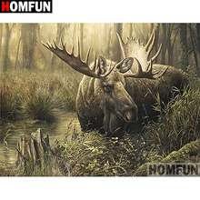 HOMFUN Full Square/Round Drill 5D DIY Diamond Painting Deer scenery Embroidery Cross Stitch 3D Home Decor Gift A13281 homfun full square round drill 5d diy diamond painting deer scenery embroidery cross stitch 5d home decor gift a18124