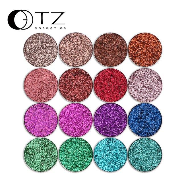 Glitterinjections Pressionado Pressionado Glitters Glitters Sombra Único Diamante Íris Compõem Cosméticos da sombra de Olho Paleta Ímã