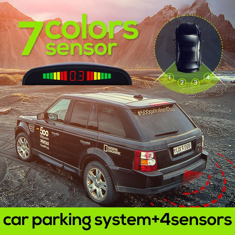 1Set Car LED Parking Sensor Kit Display 4 Sensors for all cars Reverse Assistance Backup Radar