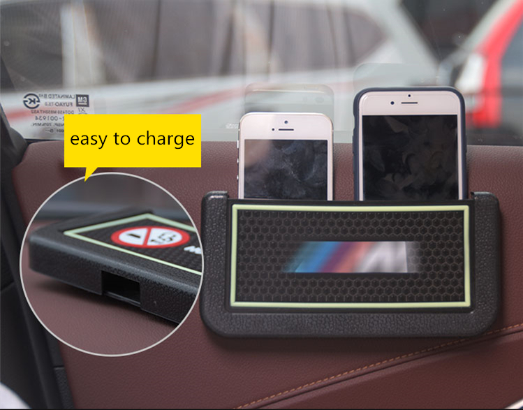 <font><b>Car</b></font> Styling Interior <font><b>Accessories</b></font> Luminous <font><b>Phone</b></font> Cigarette Storage Box Organizer Hang Multi-functional With Hole Easy to Charge