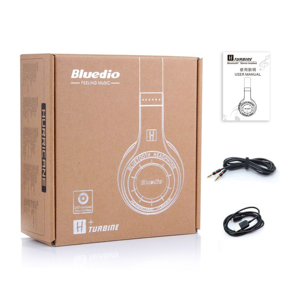Bluedio H+ Wireless Headset Bluetooth Headphone Super Bass Stereo Support FM Radio TF Card Play Handsfree Microphone