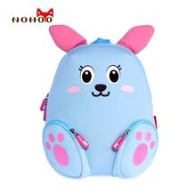 NOHOO Kleine Kinder kinder Schultaschen Rucksäcke 3D Cartoon Kaninchen Kleinen Rucksack Kleinkind Baby Mädchen Schule für 2-4 Jahre Alt