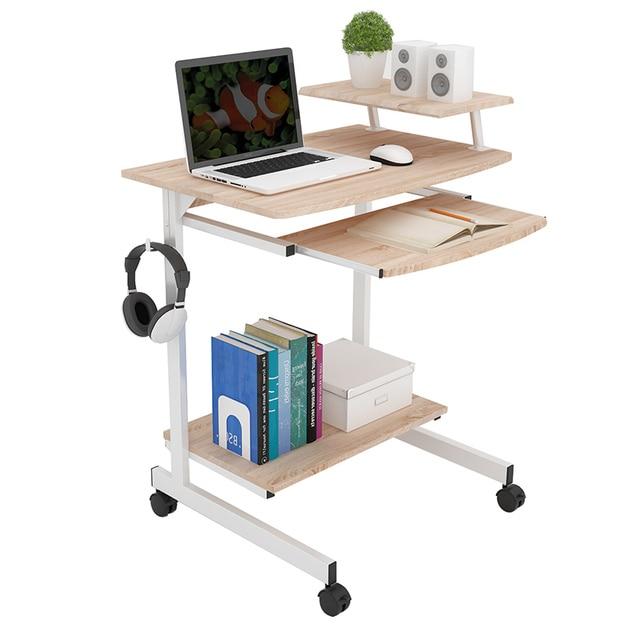 Modern Computer Desk Home Mobile Laptop E Saving Simple Study Table Small Desktop With Lock