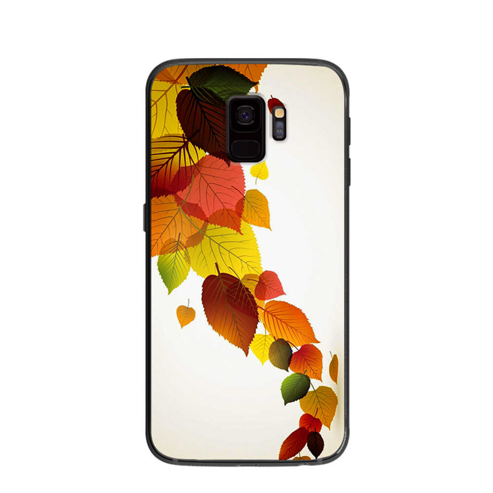 vintage style Flower soft phone cover case for Samsung Galaxy S6 S7 S8 S9 S10e Plus Note 8 9 Black silicone Cases