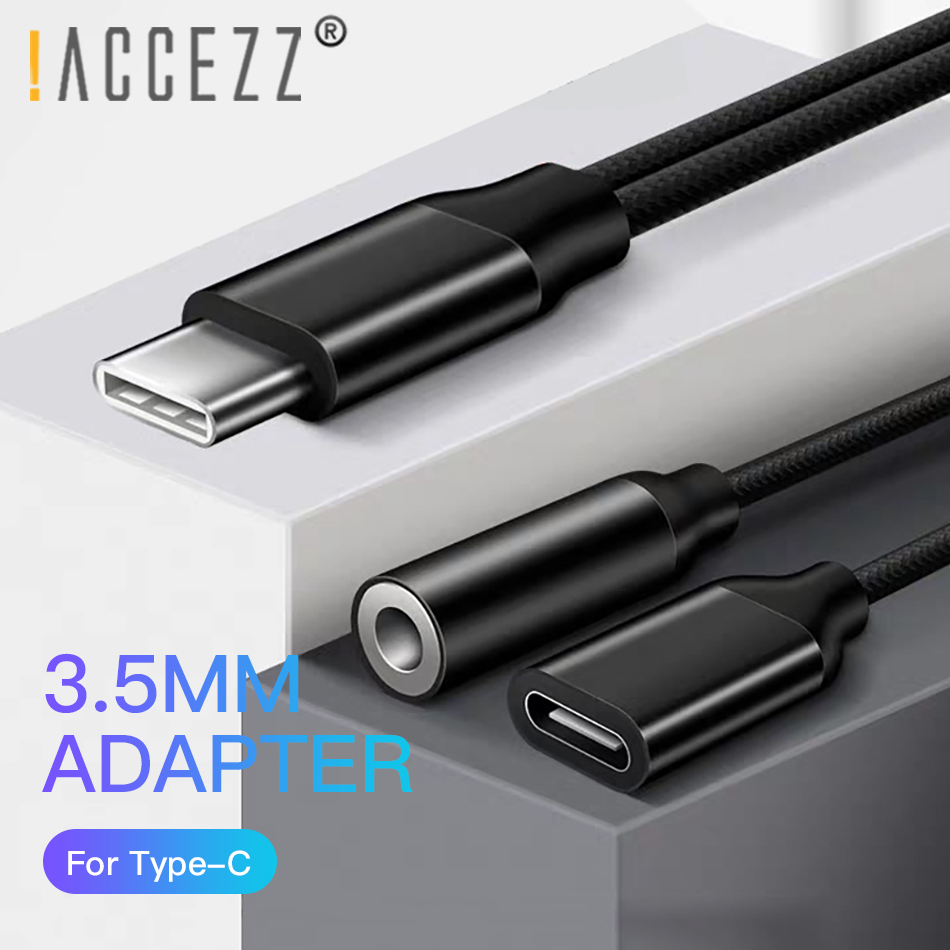ACCEZZ Type C to Type C 3 5mm AUX Adapter Charging Listening Calling Connector For Huawei Mate 20 Samsung Xiaomi LG Audio Cable in Phone Adapters Converters from Cellphones Telecommunications