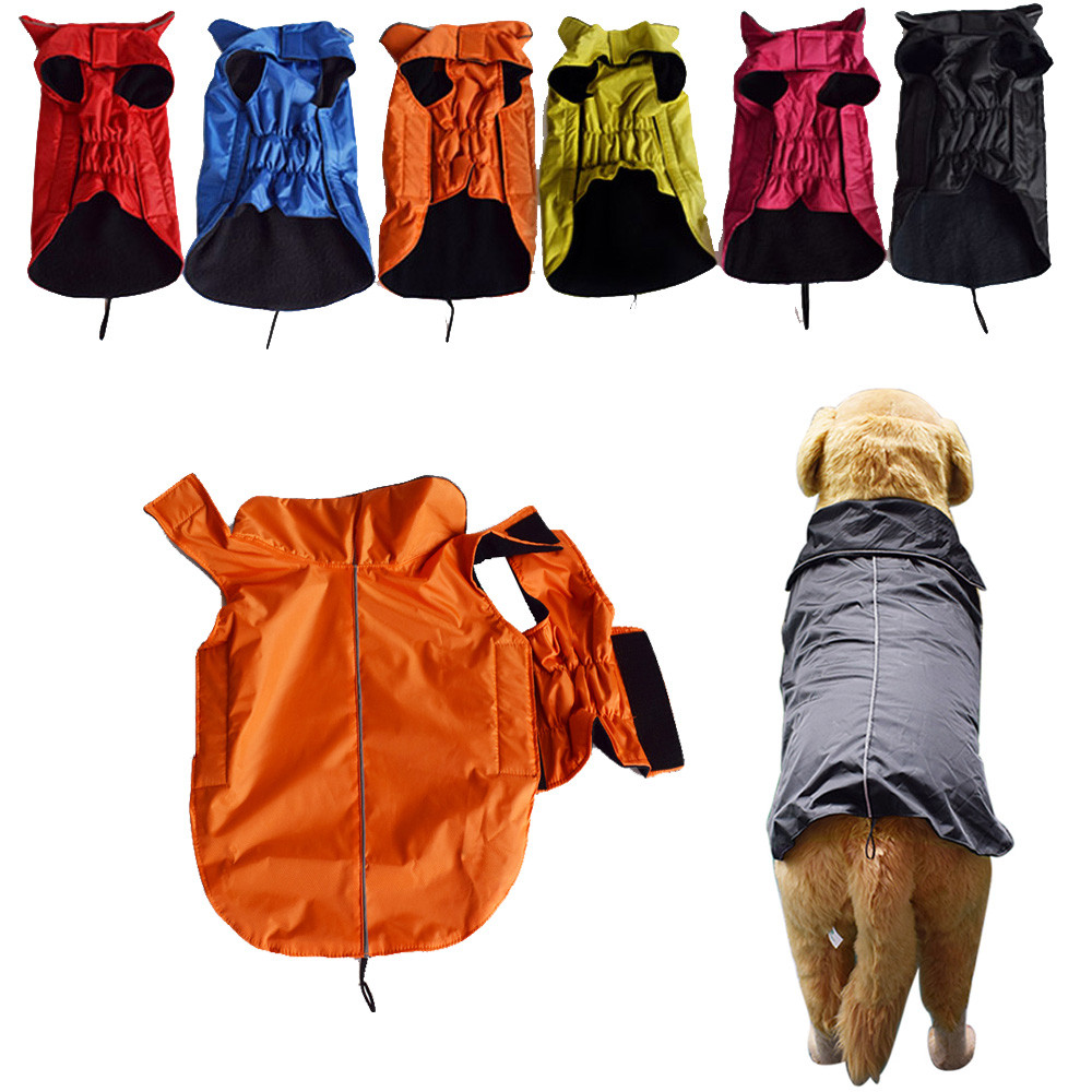Dog Clothes For Dogs Costume Pet Products Clothing Dog Outdoor Winter Waterproof Rain Coat Jacket Fleece Reflective Safe XS-5XL