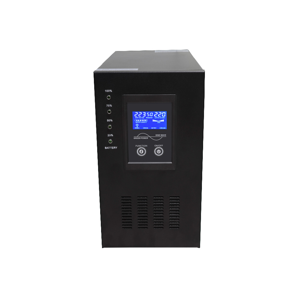 Industrial Level low frequency LCD display Pure Sine Wave Line interactive UPS 3000VA 2400W 24V DC to 220V AC 2kva 2000va 1600w smart lcd display pure sine wave line interactive ups industrial power supply
