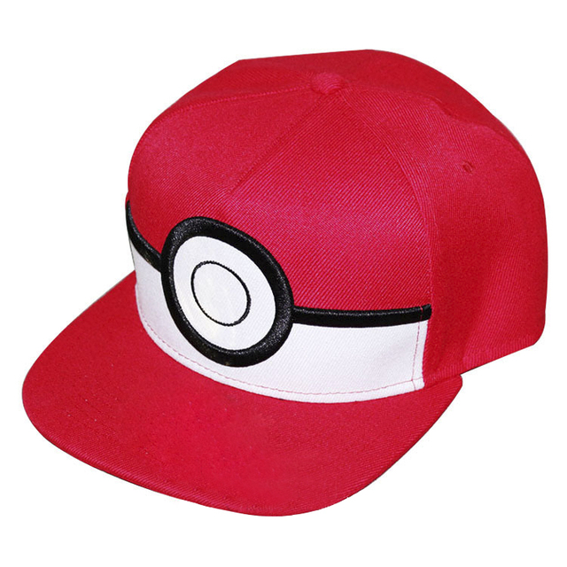 Cartoon Pokemon Ball Cap Pokeball Poke Ball Mesh Hat ASH KETCHUM Costume  Play Anime Pocket Monster Pokemon Baseball Cap 5a705842ebdb