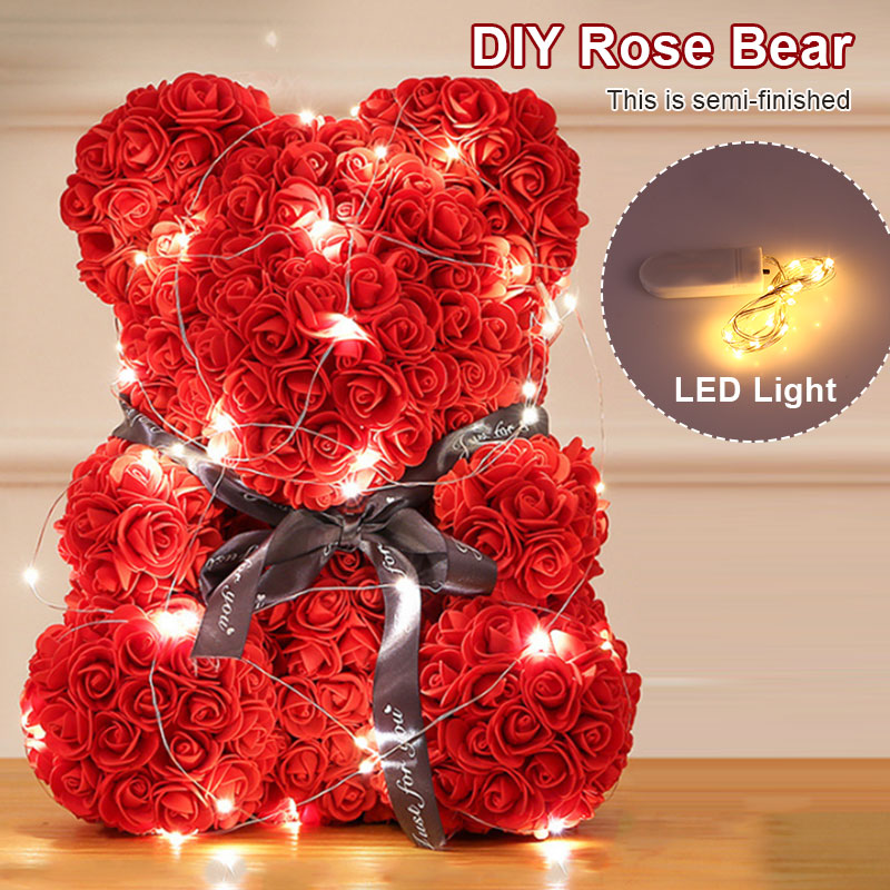 Pe Rose Bear Girlfriend Birthday Toy Romantic Gift Valentines Day Love Artificial Rose Lovely Simulated Bear Dolls Decorations Online Discount Festive & Party Supplies Event & Party