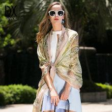 35b8e9c69f8a 2018 Femmes foulards de soie Marque De Luxe Hijab Femme Bandana foulard  Silencieux Châle Wrap grande taille 245 110 cm couverture de plage dans  Foulards de ...