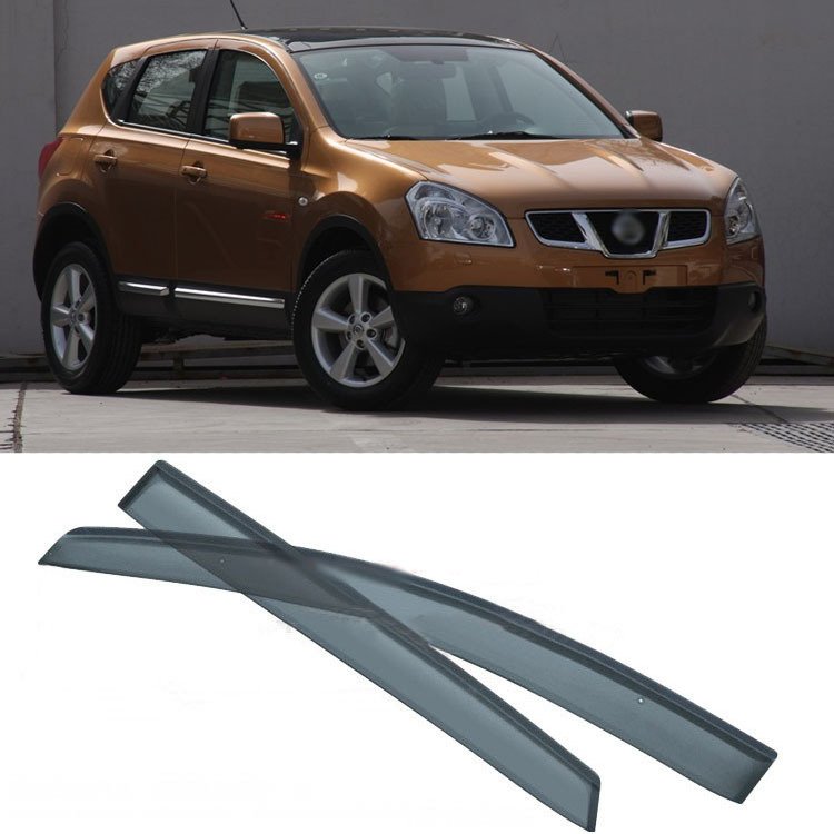 Jinke New 4pcs Blade Side Windows Deflectors Door Sun Visor Shield For Nissan Qashqai 2008-2012 4 pcs chrome plated abs door handle bowl for nissan qashqai