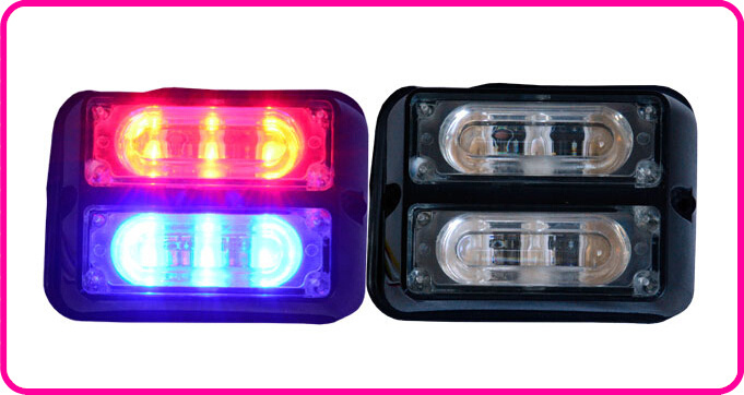 Free shipping High quality DC12V 6W Led strobe lightheads emergency lights grill warning lights 18 flash