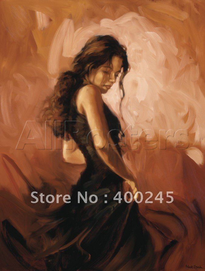 Online Shop High Quality Beautiful woman oil painting modern ...