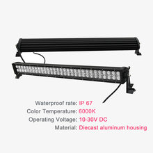 "CO LIGHT 32"" Straight 180W Led Bar 2 rows Cree Chip 2D 12v Led Work Light for 4×4 Offroad Jeep UAZ Lada Niva Tractor Trailer"
