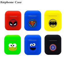 Cartoon Wireless Bluetooth Earphone Case For Apple AirPods Silicone Charging Headphones Cases For Airpods Protective Cover 3d cute big hero wireless bluetooth earphone for apple airpods 1 2 silicone charging headphones cases baymax airpods pro covers