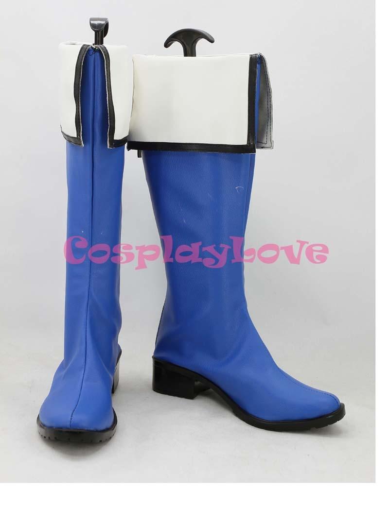 9fc447d88 Kyokai no Kanata Nase Mitsuki cosplay de cuero de la PU Zapatos Botas color  hecho a mano por encargo para Halloween Navidad