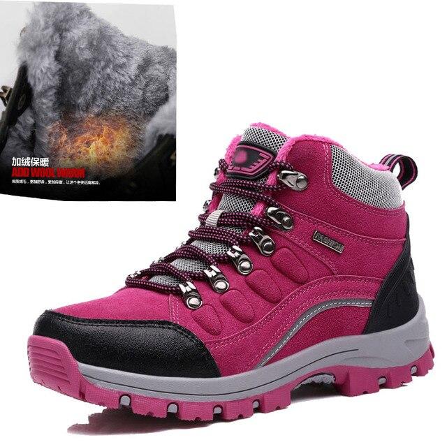 40 Winter Schuhe Größe Frauen Plüsch Outdoor Wanderschuhe 35 XPiukZ