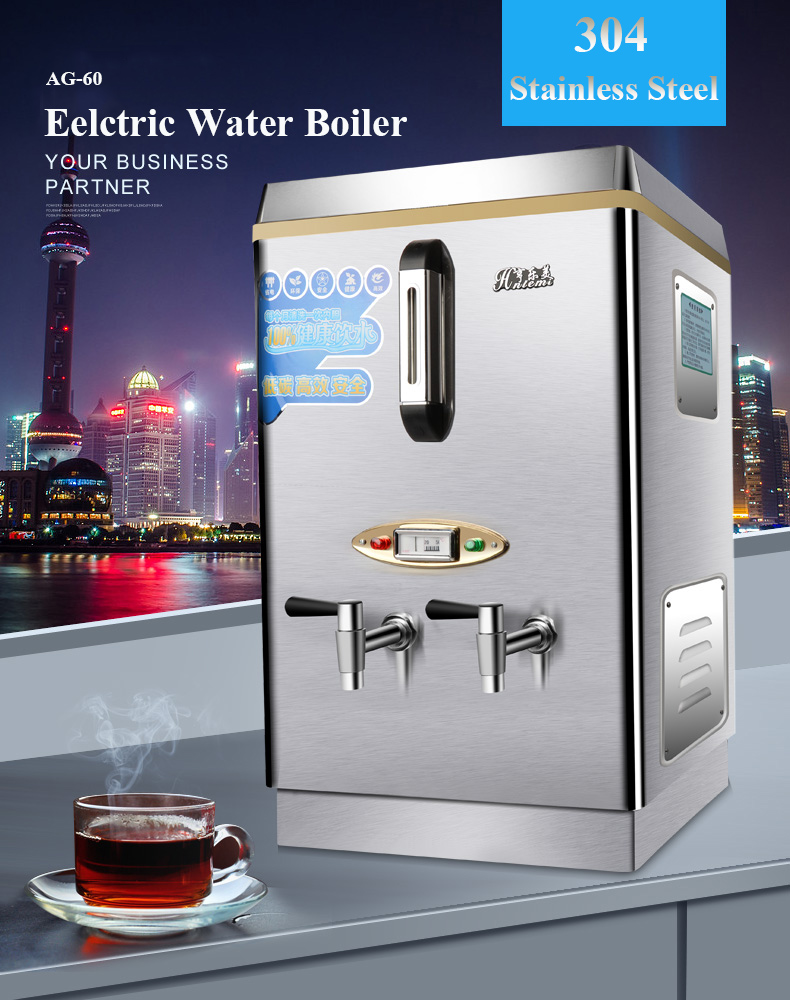 6kw power 60L capacity Commercial Water Boiler Electric Automatic ...