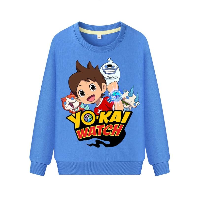 Child Cartoon Yokai Watch Print Hoodies Hoodie Kids Spring Autumn Casual Sweatshirts Boys Girls Long Sleeve Pullover Coat DZ101 (4)