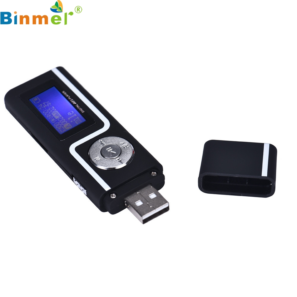 цена на Binmer Portable USB MP3 Music Player Digital LCD Screen Support 16GB TF Card
