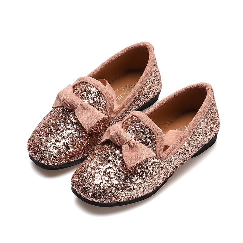 Detail Feedback Questions about JGSHOWKITO Girls Princess Bow Shoes Fashion Sequins  Glitter Leather Kids Flats Children s Loafers Party Wedding Halloween ... d0ec4cb89ae7