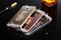 Luxury Rhinestone Metal Bumper Back Cover For Samsung Galaxy S3 S4 S5 S6 Edge Plus S7