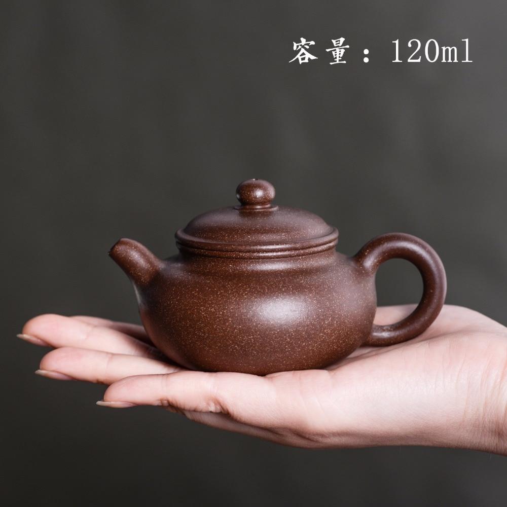 120mL Yixing Zisha Teapot Famous master pure handmade Retor Purple Clay teapot Puer tea pot small boiling water kettle