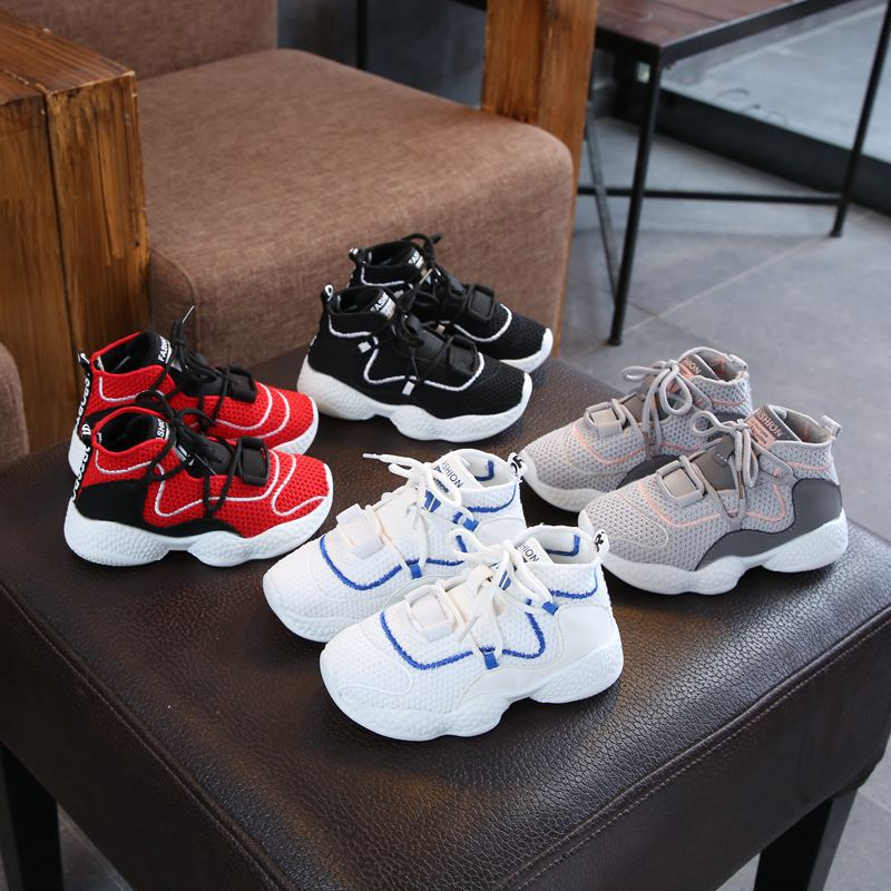 2019 New Children's Breathable Mesh Sports Shoes Girls Net Red Shoes Boys Old Shoes