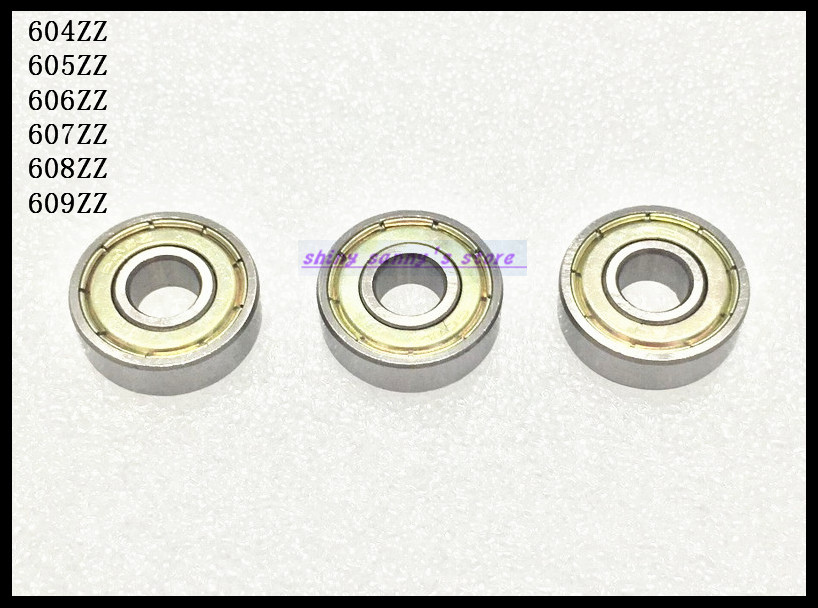цены  30pcs/Lot 606ZZ 606 ZZ 6x17x6mm Mini Ball Bearing Miniature Bearing Brand New