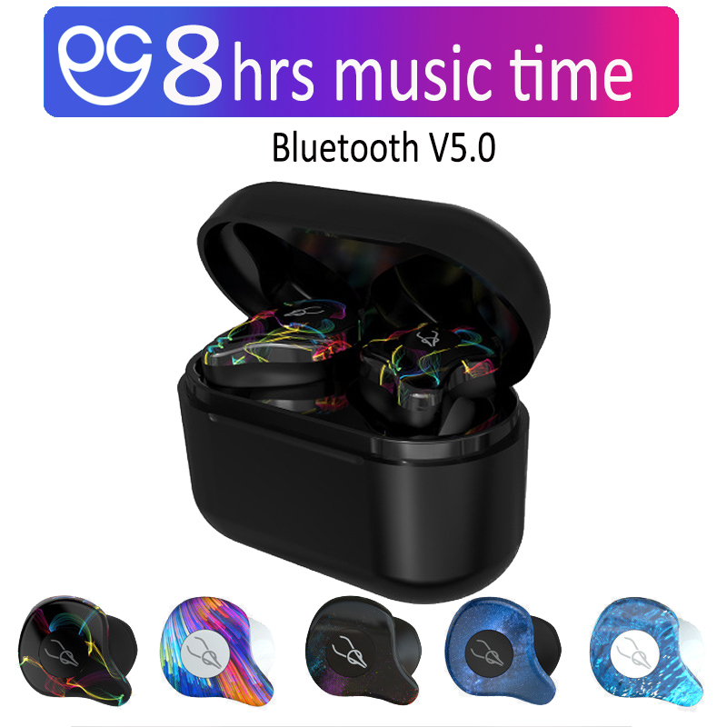 TWS V5.0 Bluetooth Earphone True Wireless 3D Sport Headphones Waterproof Stereo Earbuds With Microphone Headset for PHONE XIAOMI azexi air66 wireless bluetooth headphones sport earbuds tws earphone with microphone charging box subwoofer for mobile phone
