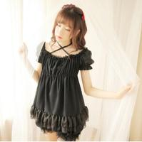 Sweet Vintage Style Ruffled Lolita T Shirt with Bloomer