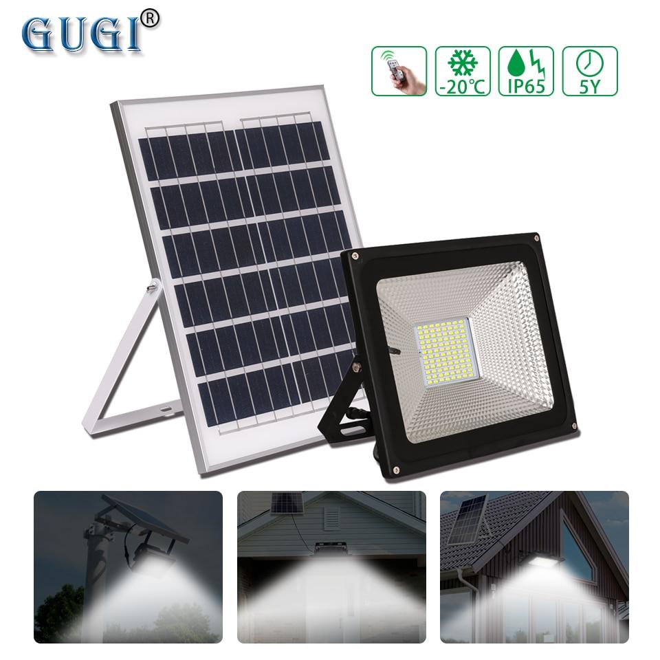 GUGI Solar Lamp Solar Led Flood Light Outdoor Led Solar Spotlight Solar Panel FloodLight 100W With