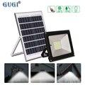Lámpara Solar GUGI lámpara Solar Led Luz de inundación al aire libre Led proyector Solar Panel Solar reflector 100 W con Led IP65 a prueba de agua reflector