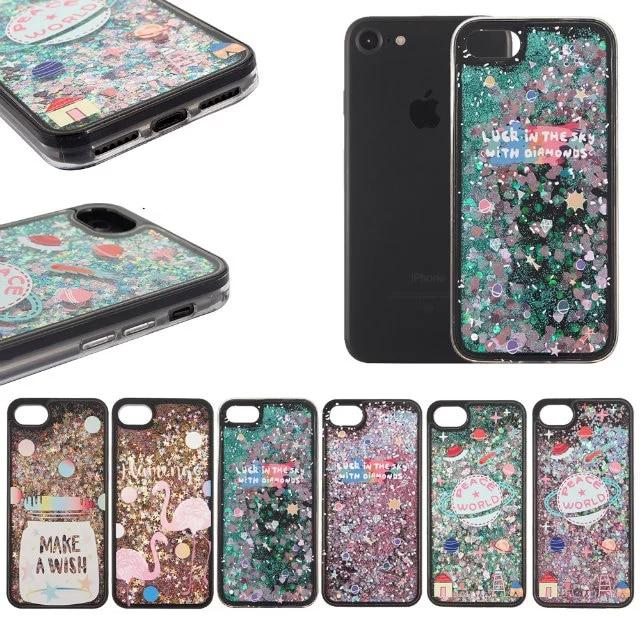 best sneakers 7d8df e31ce US $4.99 |Flamingo Wish Bottle case For iPhone 7 plus Phone Cases Dynamic  Liquid Glitter Sequins Stars case For iphone 6 6 s plus 6p 5 se on ...