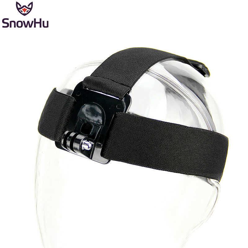 Cámara de Acción de correa de cabeza SnowHu para Gopro Hero 8 7 6 5 4 3 negro tipo elástico para cámaras deportivas para Xiaomi Yi accesorios GP23