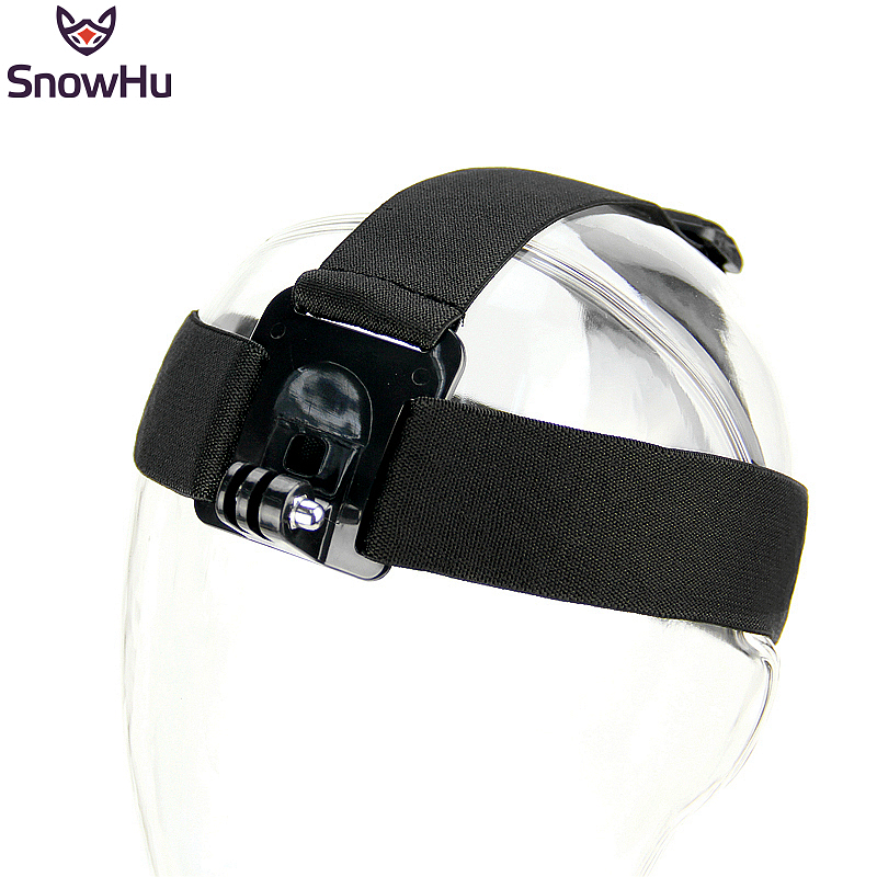 SnowHu Head Strap Action Camera For Gopro Hero 8 7 6 5 4 3 Black Elastic Type For Sport Cameras For Xiaomi Yi Accessories GP23